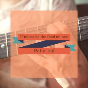 Taking inspiration from music - Treespeake painting
